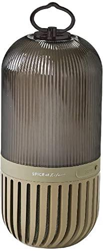 八方ふさがりのSPICE OF LIFE(スパイス) ゆらぎカプセルスピーカー カーキ Bluetooth 防塵 防水 LED 充電式 CS2020KH