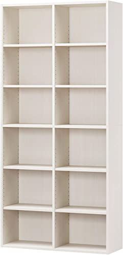 世界一おもしろい白井産業ラック 本棚 ホワイト 白木目 約 幅90 奥行30 高さ180 cm (AMZ-1890WH)